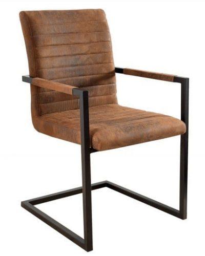 lot-de-4-chaises-modernes-coloris-marron-antique-en-microfibre-et-en-acier-inoxydable-noir-1.jpg